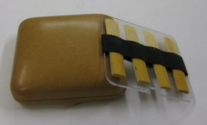 Clarinet reed case (8reeds) - imitation of hide - AS/8a