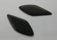 Convex plaque in ebony - A/65d